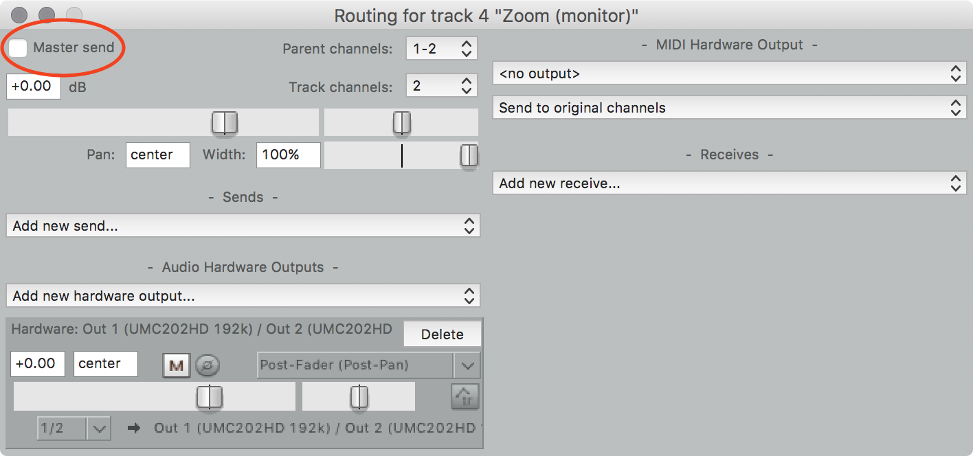 zoom monitor routing